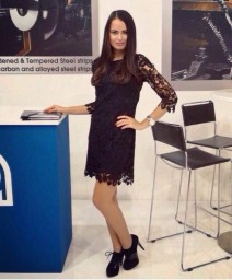 Hostess for Blechexpo in Stuttgart