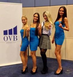 Victorky v modré na OVB akci