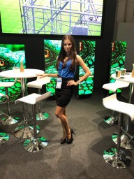 Hostess for Prolight + Sound in Frankfurt