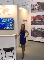 Hostess for Bauma in Munich