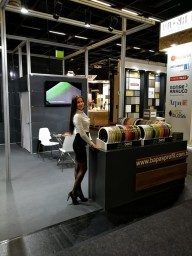 Hostess and Model for Interzum