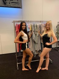 Models for fashion show in Prague