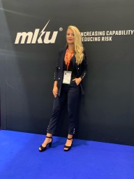 Hostess for DSEI London defense exhibition