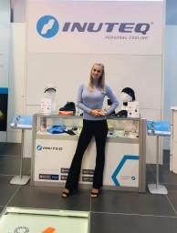 Hostess for fair A+A in Dusseldorf 2019
