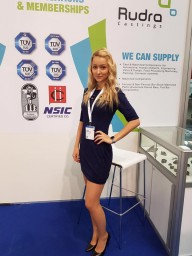 Hostess for Hannover Messe
