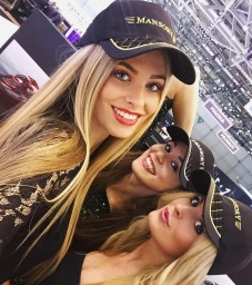 Our beautiful Czech models at the Motor Show in Geneva